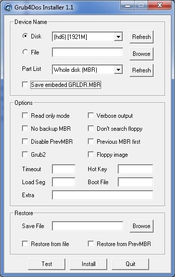 Grub4Dos Installer